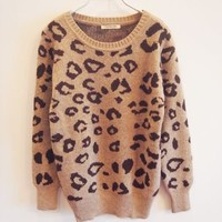 Leopard Knitted Sweater-EMS from ClothLess