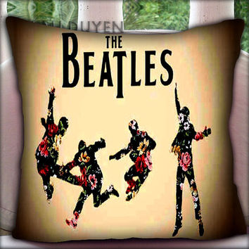 The Beatles Flowers - Pillow Cover Pillow Case and Decorated Pillow.