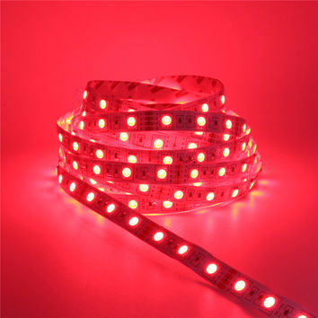 DC 12V 2835 RGB LED Strip 5M 300LED Waterproof iluminacion LED Light Flexible Neon Lamp Diode Luz Tiras Ruban Lamp Christmas