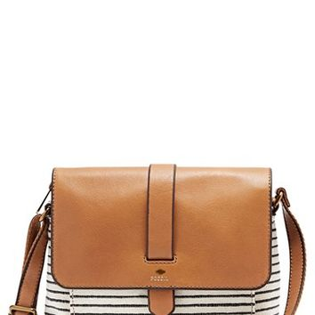 Fossil 'Small Kinley' Cotton & Leather Crossbody Bag   Nordstrom