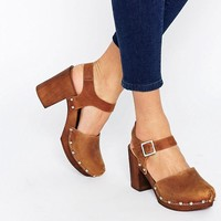ASOS | ASOS ONLY ONCE Leather Heeled Shoes at ASOS
