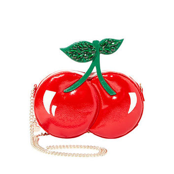 KITSCH CHERRIES ON TOP CROSSBODY: Betsey Johnson