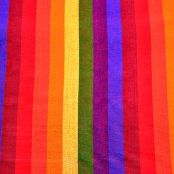 Ikat Handmade Fabric (#57) from Guatemala - 100%Thick Cotton - Sold by yard - Suitable fabric for upholstery