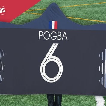 Pogba France Home Jersey 2018 Hooded Blanket - FIFA World Cup