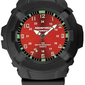 Aqua Force Combat Field Watch w/ Red Face (50M water resistant)