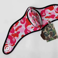 Bape New Fashion Cycling Face Shark Camouflage Mask Red