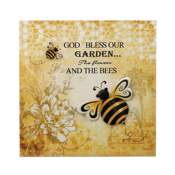 Wall Decor Art-Iron 3-D Bumble Bees