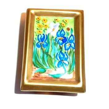 Iris Van Gogh Picture Easel Limoges Box