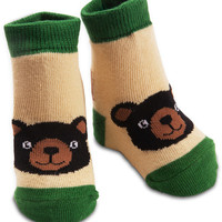 Black Bear Baby Boy Socks