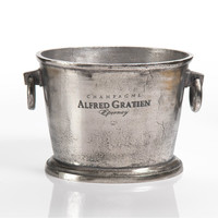 Raw Aluminum Oval Wine Bucket