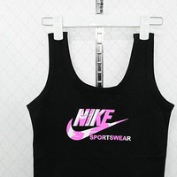 Nike Summer Comfortable Sexy Beach Crop Top Spaghetti Strap Cotton Sleeveless Vest [11516239500]
