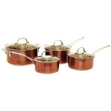 Starfrit(R) 031049-001-0000 8-Piece Copper Cookware Set