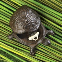 Turtle Garden Decor Key Hider