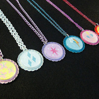 My Little Pony MLP Friendship is Magic Deluxe Necklace Colored Chain - SET (6)
