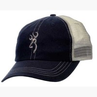 Browning Trouter Meshback Navy and Tan Hat