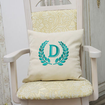 Monogram Pillow Covers Custom Pillowcase Personalized Name Initial Decorative Pillow Cover Home Decor Monogrammed Throw Pillows Gift V6