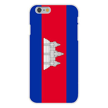 Apple iPhone 6 Custom Case White Plastic Snap On - Cambodia - World Country National Flags