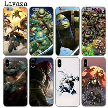 Lavaza Teenage Mutant Ninja Turtles Hard Phone Case for Apple iPhone X XS Max XR 6 6S 7 8 Plus 5 5S SE 5C 4S 10 Cover Cases