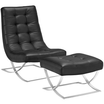 Slope Ottoman Modern and Lounge Chair