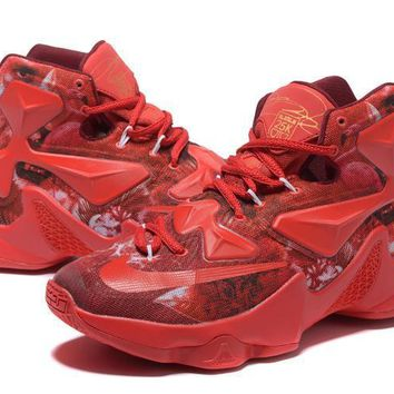 Nike Zoom LeBron James 13 Colorful Red Basketball Shoes