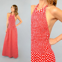 80's POLKADOT Halter Dress