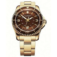 Victorinox Swiss Army Maverick GS Gold-Tone Mens Watch - Espresso Dial - Date