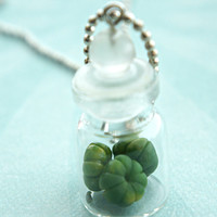 pumpkins in a jar necklace