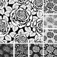 Rose pattern svg, eps, cdr instant download for serigraphy, sublimation, stencil silhouette, vinyl, iron transfer