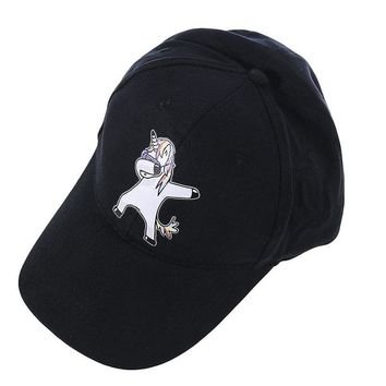 Trendy Winter Jacket High Quality Unicorn Baseball Cap For Men Women Lovely Cotton Snapback Cap Adjustable Embroidered Fashion Casual Hip Hop Sun Hat AT_92_12