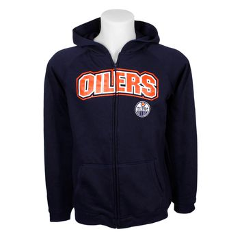 Edmonton Oilers YOUTH Essential Full Zip Hoodie