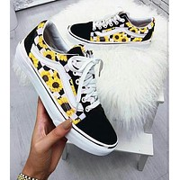 Vans flower logo canvas shoes