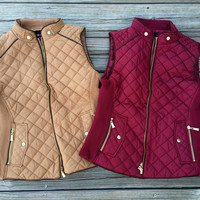 Quilted vest various colors