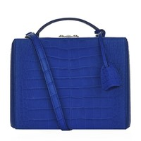 Mark Cross Large Croc Grace Box Bag | Harrods