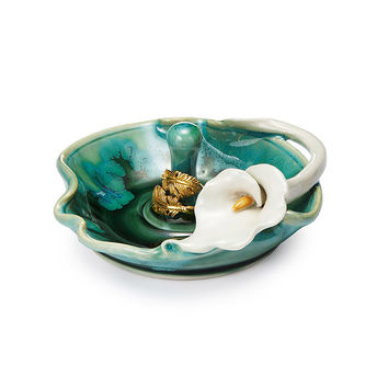 Porcelain Lily Ring Holder | Ceramic Ring Dish