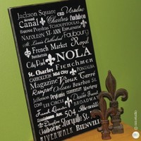 CLING | NOLA Subway Wood Sign | New Orleans Louisiana handpainted, distressed, vintage, wood subway street name sign