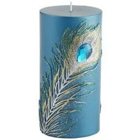 Peacock Feather Pillar