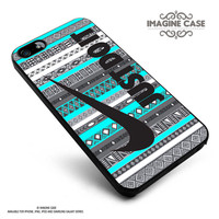 Nike Just Do It on aztec mint pattern case cover for iphone, ipod, ipad and galaxy series