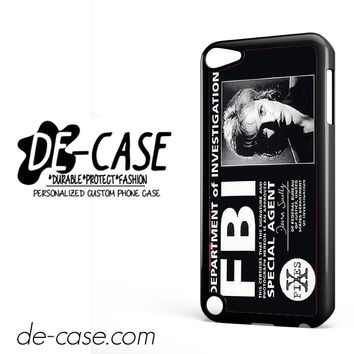 Agent Dana Scully Fbi DEAL-387 Apple Phonecase Cover For Ipod Touch 5