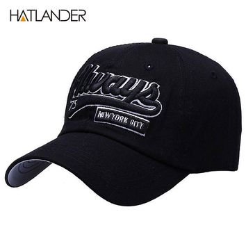 Embroidery letter baseball caps casual cotton dad hat unisex outdoor sport hats snap back