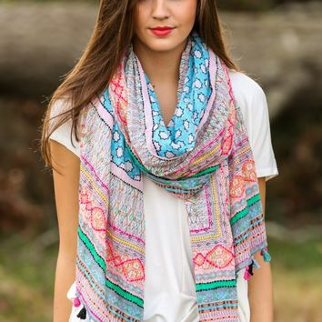 Chasing Wildflowers Scarf-Pink