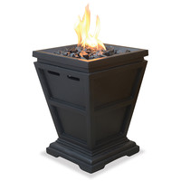 Uniflame LP Gas Column Small Fire Pit | Overstock.com