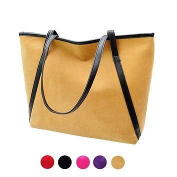 Xiniu Women tote 2017 New Simple Winter Larger Capacity Leather Suede Women  Messenger Bag #XTJ