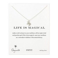 life is magical unicorn necklace, sterling silver