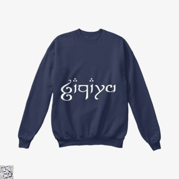 Zachary In Elvish, Lord Of The Rings Crew Neck Sweatshirt