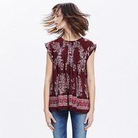 Silk Garden Top in Lassi Flower