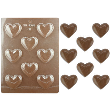 "2"" Plain Heart Chocolate Mold"