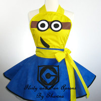 Flirty Adult Minion Costume Apron