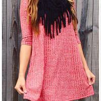 Faith Knit Dress - Red
