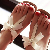 00-BOWKNOT IS FLAT SANDALS-99