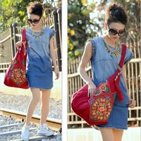 Embroidery Cross Body Bags For Women